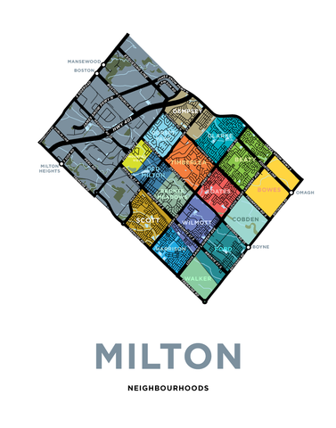 Milton Urban Neighbourhoods Map