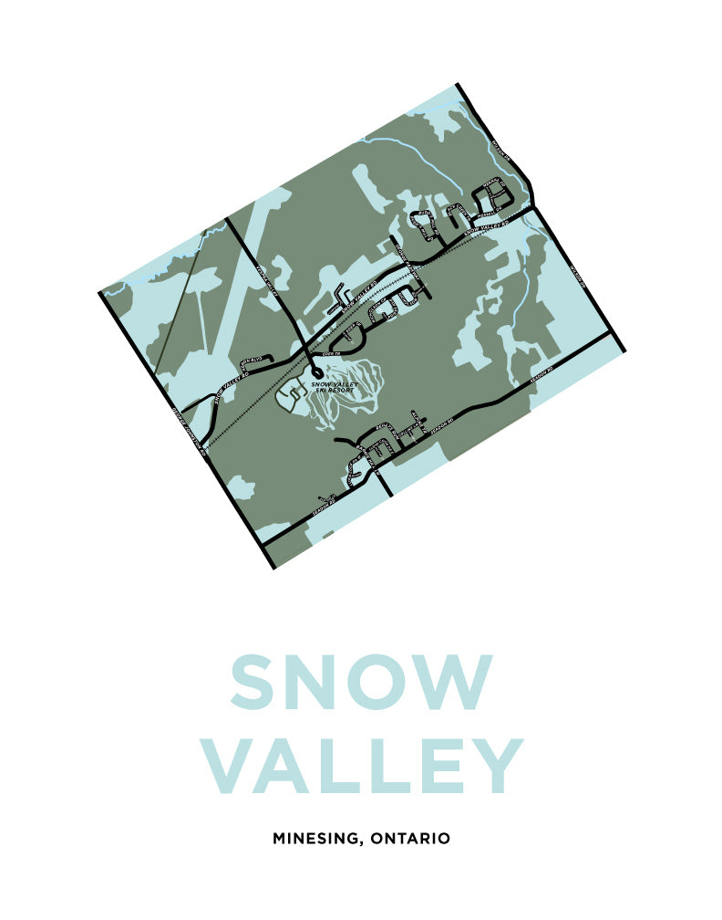 Snow Valley Map Print