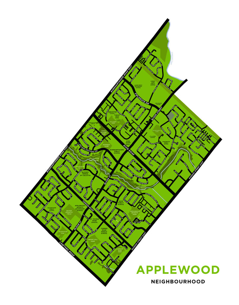 Applewood Neighbourhood Map Print