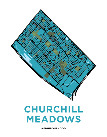 Churchill Meadows Neighbourhood Map Print