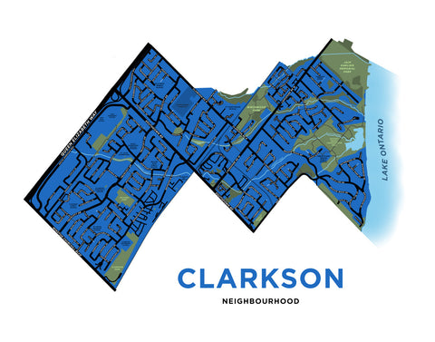 Clarkson Neighbourhood Map Print
