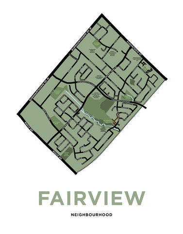 Fairview Neighbourhood Map Print (Mississauga)