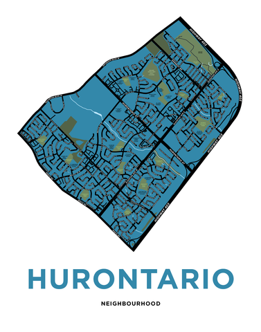 Hurontario Neighbourhood Map Print