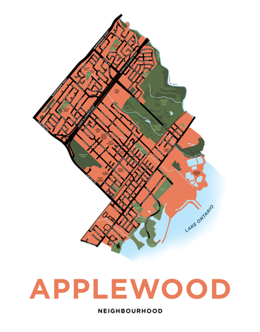 "Applewood Neighbourhood Map (using ""Lakeview"" boundaries)"