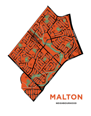 Malton Neighbourhood Map Print