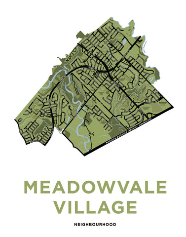 Meadowvale Village Neighbourhood Map Print