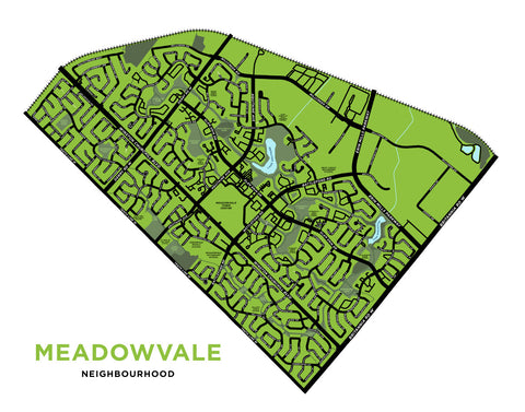 Meadowvale Neighbourhood Map Print