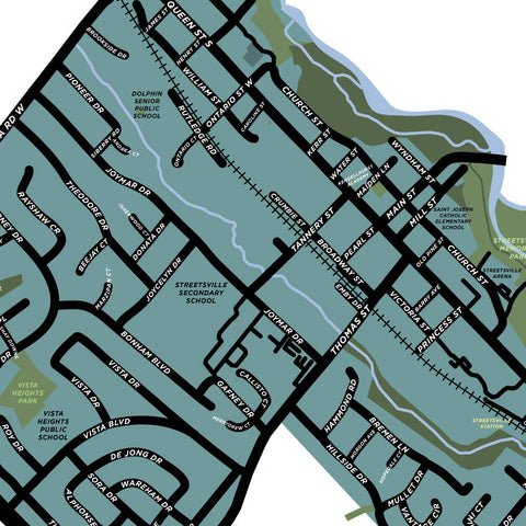 Streetsville Neighbourhood Map Print