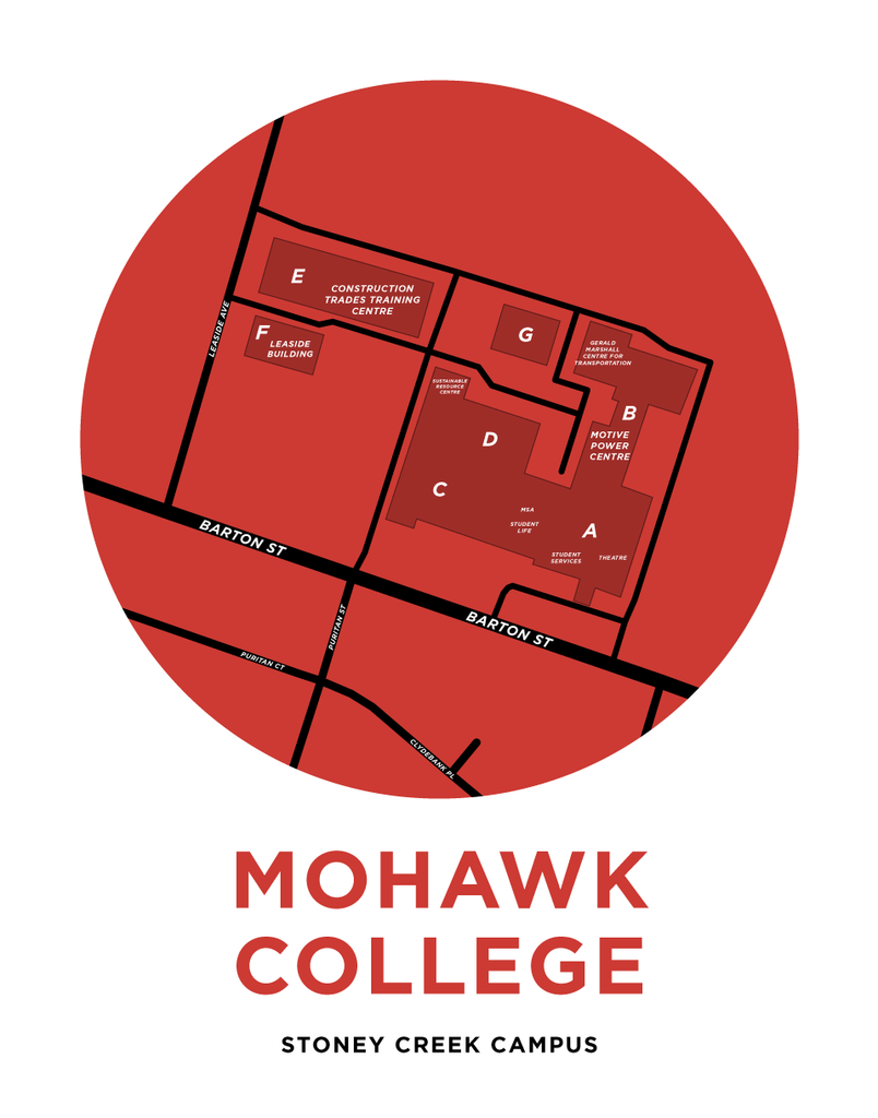 Mohawk College Stoney Creek Campus Map Print