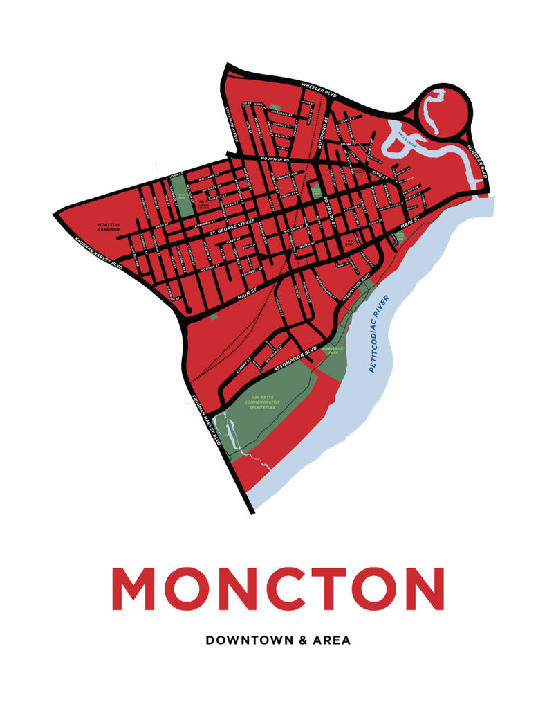 Downtown Moncton Neighbourhood Map