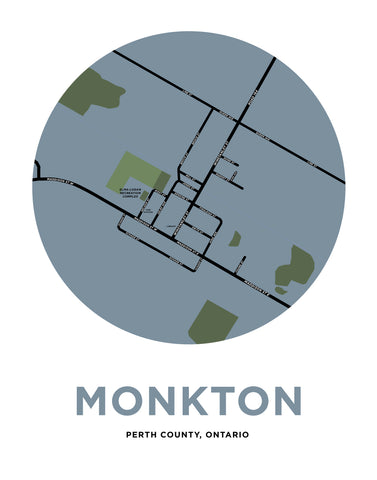 Monkton Map Print