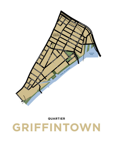 Griffintown Neighbourhood Map Print (Montréal)