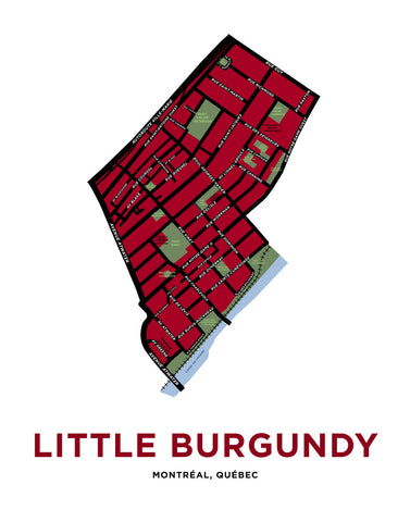 Little Burgundy Neighbourhood Map Print (Montréal)