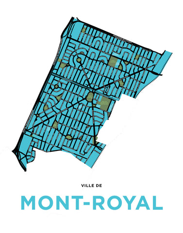 Town of Mont-Royal Map Print (Residential Only)