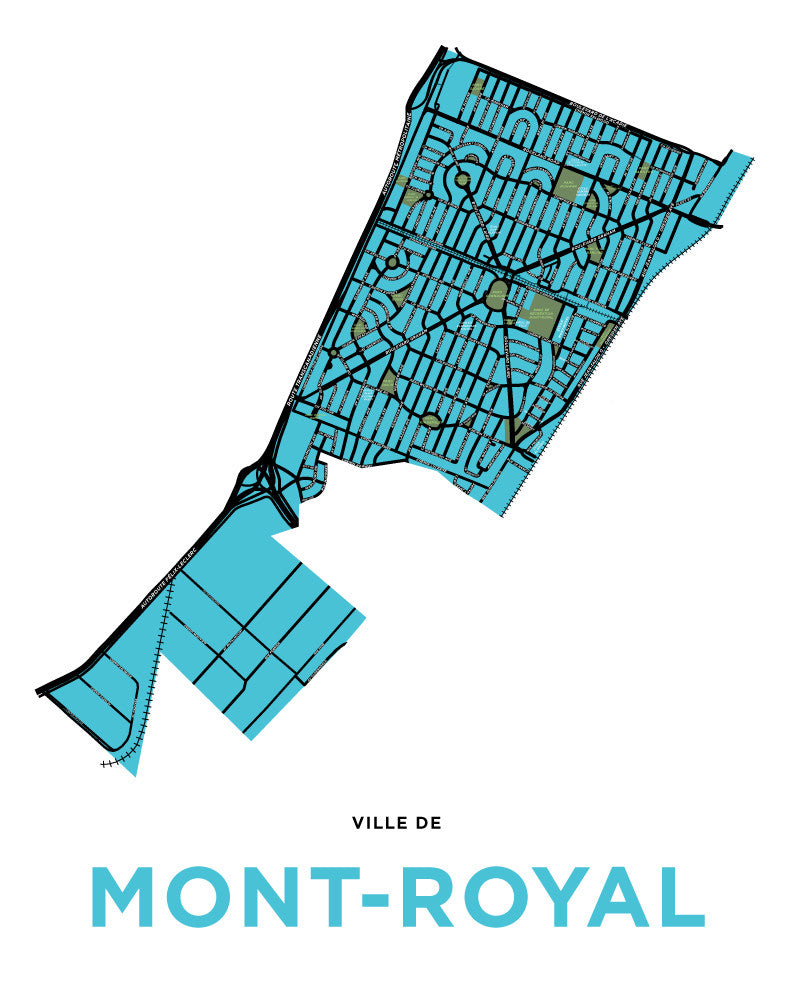 Mont-Royal Town Map Print
