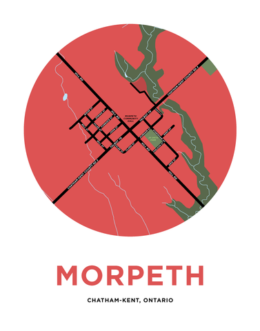 Morpeth Map Print