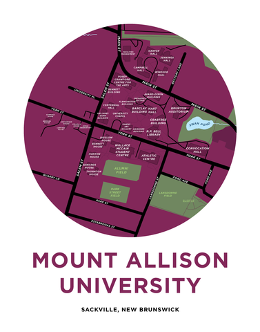 Mount Allison University Campus Map