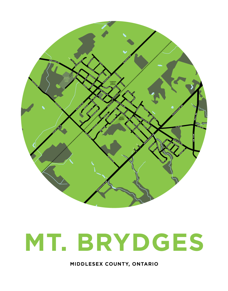Mt. Brydges Map Print