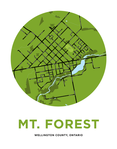 Mount Forest Map Print