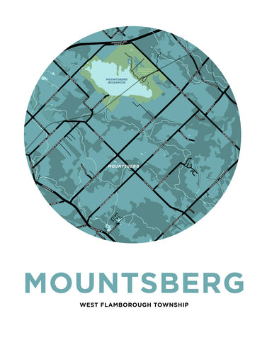 Mountsberg Map Print