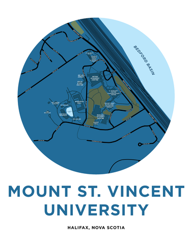 Mount Saint Vincent University Campus Map Print