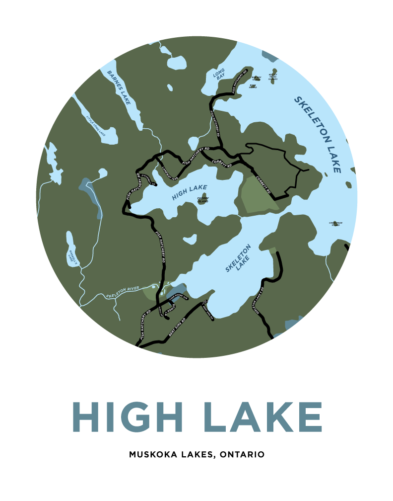 High Lake (Muskoka) Map Print
