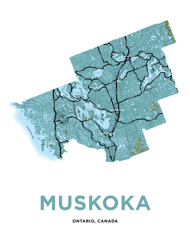 Muskoka District Municipality Map Print