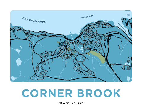 Corner Brook Map Print