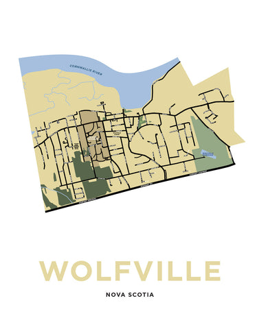 Wolfville, Nova Scotia Map Print