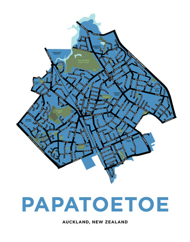 Papatoetoe, Auckland, New Zealand Map Print
