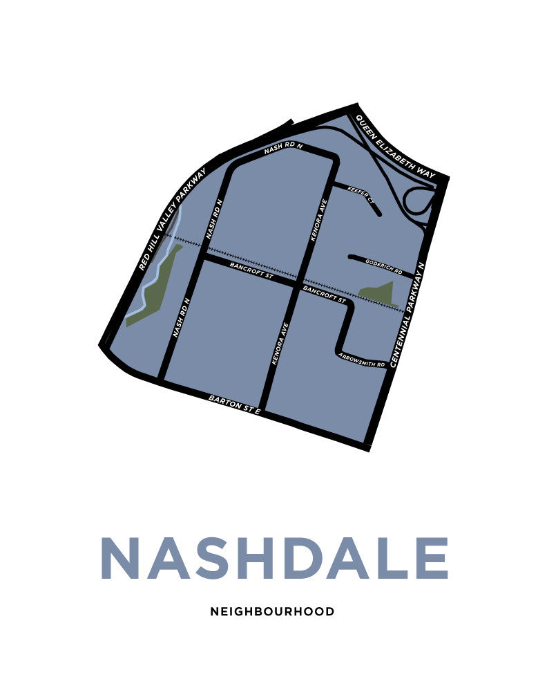 Nashdale Neighbourhood Map Print