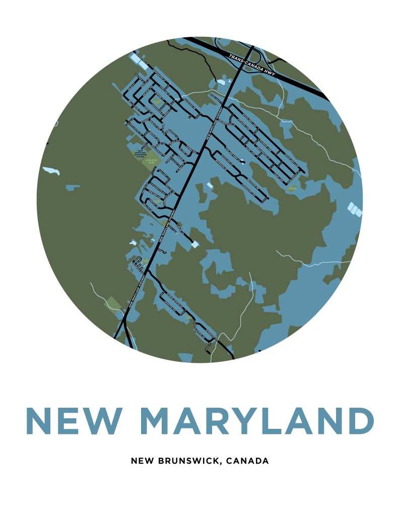New Maryland Map Print
