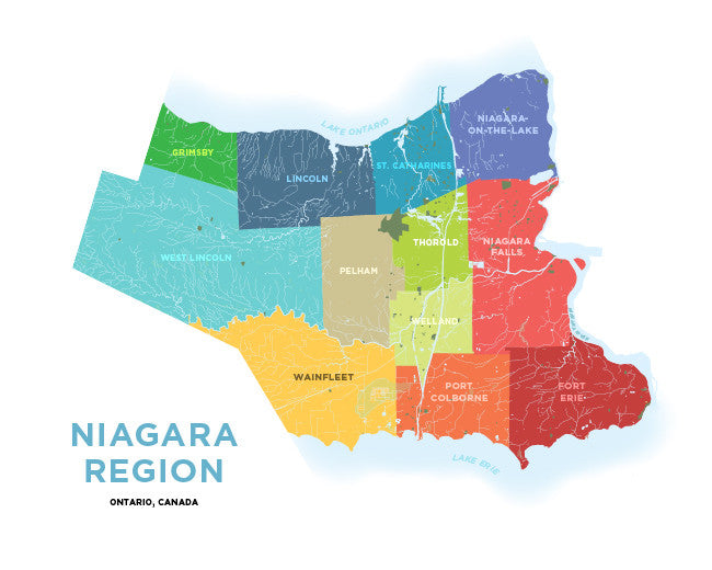Niagara Region Map Niagara Region Map Print – Jelly Brothers