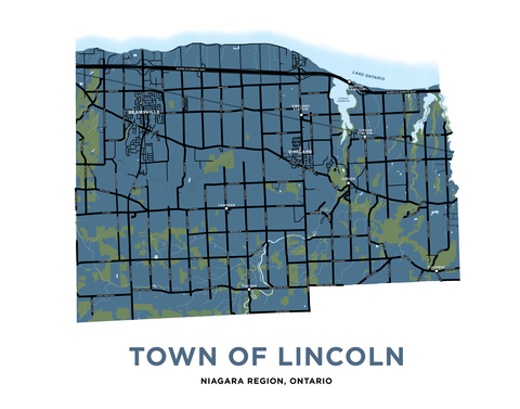 Lincoln Map Print