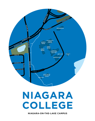 Niagara College - Niagara-On-The-Lake Campus Map Print
