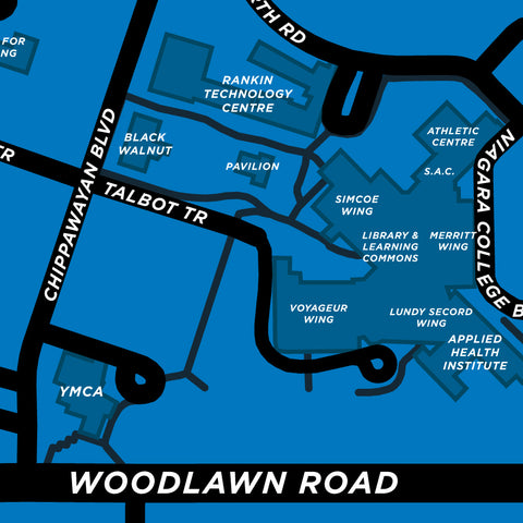 Niagara College - Welland Campus Map Print