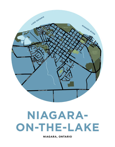 Niagara-On-The-Lake Map Print (Town)
