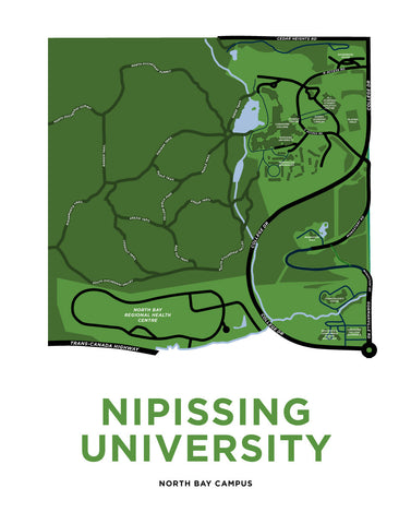Nipissing University Campus Map Print