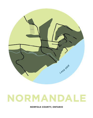 Normandale Map Print