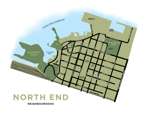 North End Neighbourhood Map