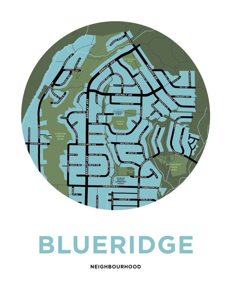 Blueridge Neighbourhood Map Print