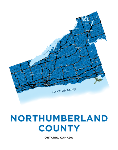 Northumberland County Map Print