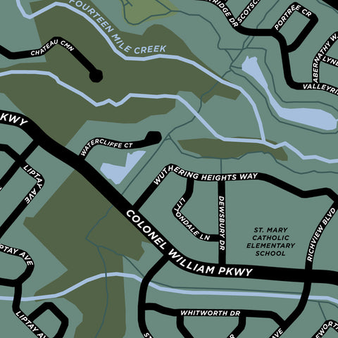 Bronte Creek Neighbourhood Map Print
