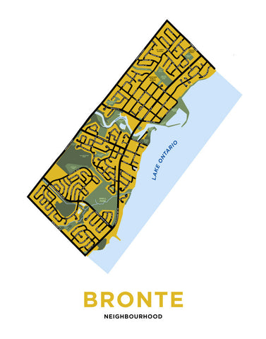 Bronte Neighbourhood Map Print