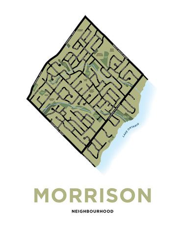 Morrison Neighbourhood Map Print