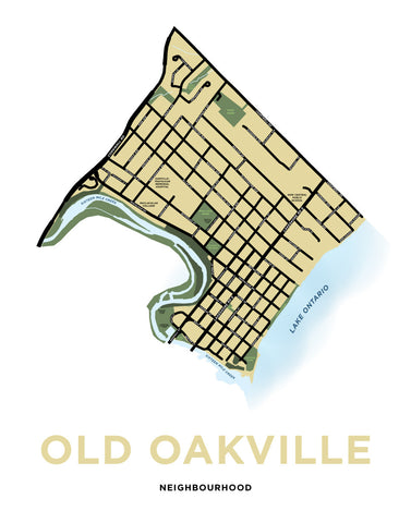Old Oakville Neighbourhood Map Print