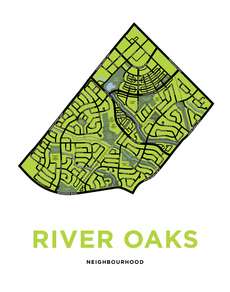 River Oaks Neighbourhood Map