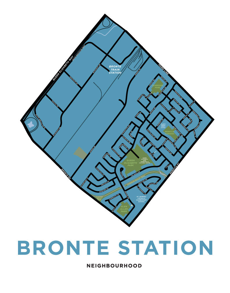 Bronte Station Neighbourhood Map (Oakville)