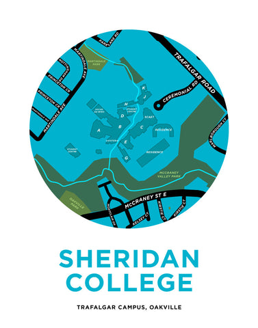 Sheridan College - Trafalgar Campus Map Print