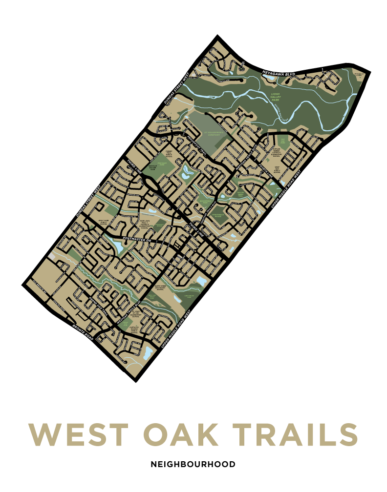 West Oak Trails Neighbourhood Map